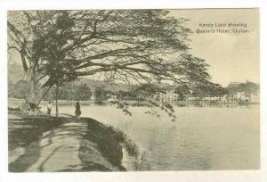 Kandy Lake Showing Queen's Hotel, Sri Lanka (Ceylon), Asia, 1900-1910s