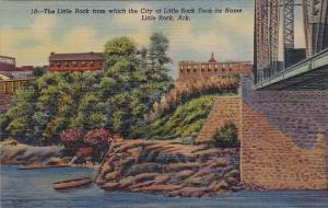 Arkansas Hot Springs National Park The Little Rock From Which The City Of Lit...