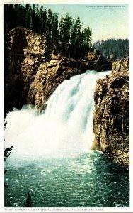 Yellowstone National Park Upper Falls Of The Yellowstone Detroit Publishing