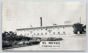 Hibbing Minnesota~El Motel Court~Rooms & Cabins~1954 B&W Postcard