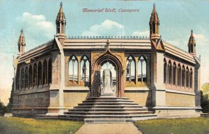 India Memorial Well Cawnpore Towers Statue Postcard