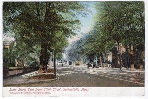 Springfield, Mass, State Street East from Elliot Street
