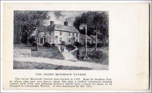 VT - Bennington. The Green Mountain Tavern, Catamount Tavern
