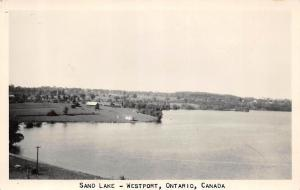 Canada Postcard Real Photo RPPC Ontario c1950 WESTPORT Sand Lake 66