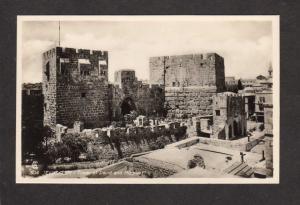 Israel Jerusalem Tower of David Hippicus Photo Postcard RPPC Carte Postale