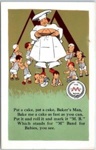 Vintage Advertising Postcard MINNEAPOLIS KNITTING WORKS M Band for Babies
