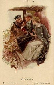 The Honeymoon   Artist: Harrison Fisher  (Pinholes in card)