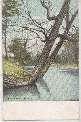 Lake Columbus Corry PA -vintage-