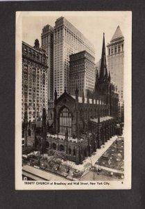NYC NY Trinity Church New York City Real Photo RPPC Postcard PC