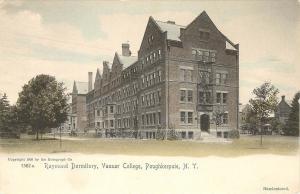 1901-07 Hand-colored Postcard Raymond Dormitory Vassar College Poughkeepsie NY