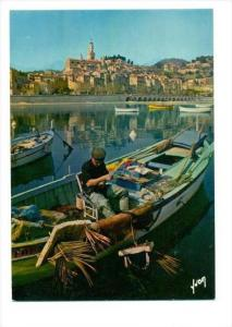 Menton , France , 50-60s   Fisherman