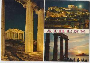Greece, Athens, multi view, 1978 used Postcard