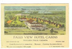 Fall View Hotel , Niagra Falls, Ontario , Canada , PU-1948
