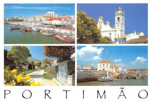 Portugal Portimao Algarve Harbour Boats Port Church Eglise Promenade
