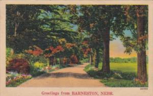Greetings From Barneston Nebraska 1942