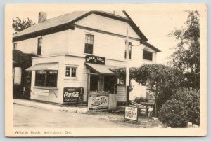 Morrisburg~Willard's Booth~Soda-Stand~Coca-Cola, Pepsi & 7-Up Signs~Cabins 1930s