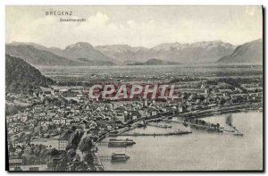 Old Postcard Bregenz Gesamtansicht