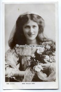 b2927 - Stage - Actress - Phyllis Dare in Hooded Cape c1905 - Postcard