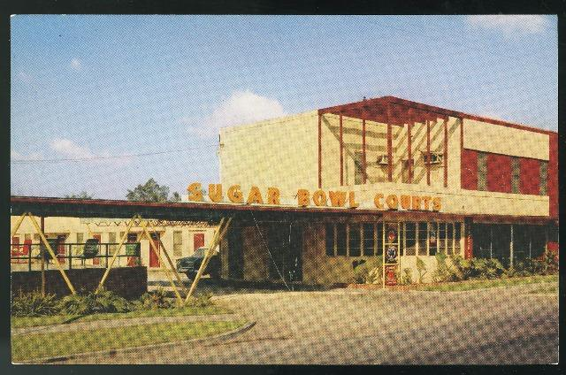 New Orleans LA Sugar Bowl Court Motel Vintage Chrome H.S. Crocker Postcard