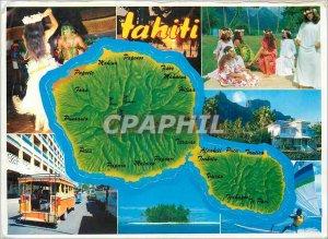 Postcard Modern Tahiti