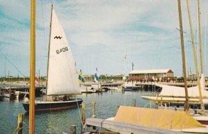 DEWEY BEACH , Delaware, 50-60s ; Sailboat in harbor