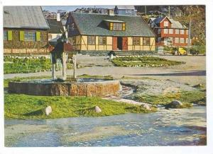 Greenland, 50-60s   Fountain & Old Buildings at Julianehab