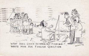 What does the chief do when not fishing? , 1948