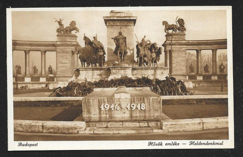Heroes Memorial Budapest Hungary Unused c1920s