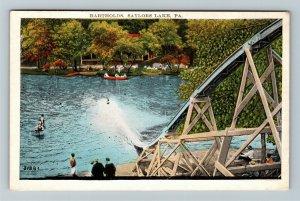 Saylors Lake PA-Pennsylvania, Bartholds Water Slide Ride, Vintage c1934 Postcard