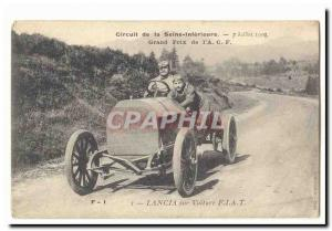 Circuit of the Seine Inferieure Old Postcard July 2nd 1908 Grand Prix of & # ...