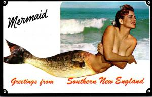 Rhode Island Greetings From Southern New England Mermaid Risque