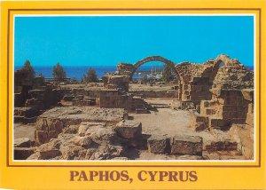 Cyprus Postcard Paphos Byzantine Castle Columns old architecture