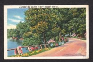 MN Greetings from NORTHFIELD MINNESOTA MINN Postcard PC