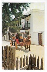 St Augustine FL Casa Ribera San Augustin Antiqua Horse Carriage Rahners Postcard