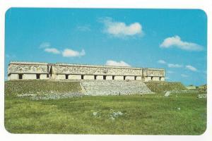 Mexico Uxmal Yucatan Governors Palace Vintage Postcard