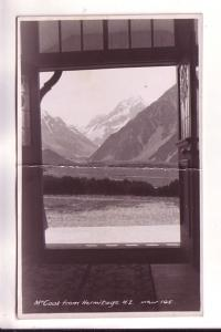 Real Photo, Mt Cook from Hermitage, New Zealand McPeart