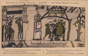 Bayeaux Queen Mathilda Tapestry Harold Puts On Armour To Resist William