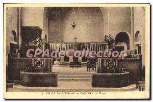 Postcard Old Church St. Germaine Cachan Cachan From The Choir