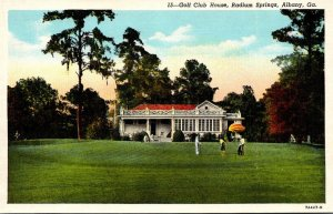Georgia Albany Radium Springs Golf Club House Curteich