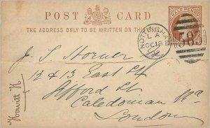 Entier Postal Stationery Postal Great Britain 1892 Great Britain Nottingham