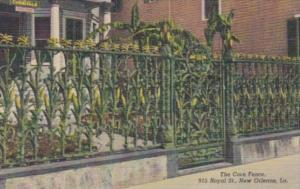 Louisiana New Orleans The Corn Fence On Royal Street Curteich
