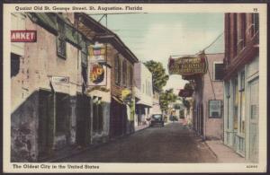 Old St Geogre Street,St Augustine,FL Postcard