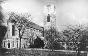 Bloomfield Hills Michigan~Christ Church Cranbrook~Note on Bk~Bare Trees~'60 RPPC
