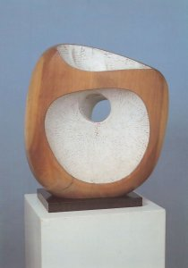 Dame Barbara Hepworth Pierced Form Carving Sculpture Tate Gallery Postcard