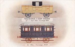 England Manchester and Leeds Railway 1st and 2nd Class Carriage 1841