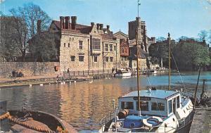 Archbishop's Palace, Maidstone, Kent, River Medway 1962