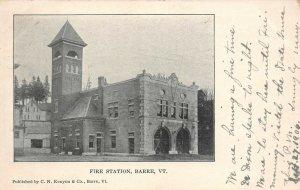 LP39   Fire Station Barre Vermont Vintage Postcard