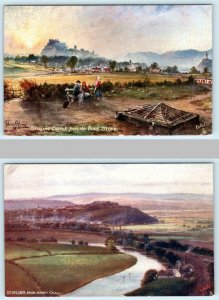 2 Tuck Oilette ~ STIRLING CASTLE from Bore Stone, View from Abbey Crag SCOTLAND