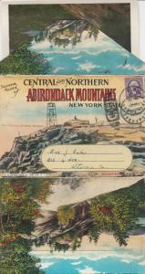 Folder Postcard, ADIRONDACK MOUNTAINS, New York, 1910-20s