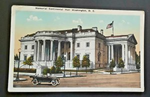 Mint Vintage Washington DC Memorial Continental Hall 13 Columns 1920s Postcard